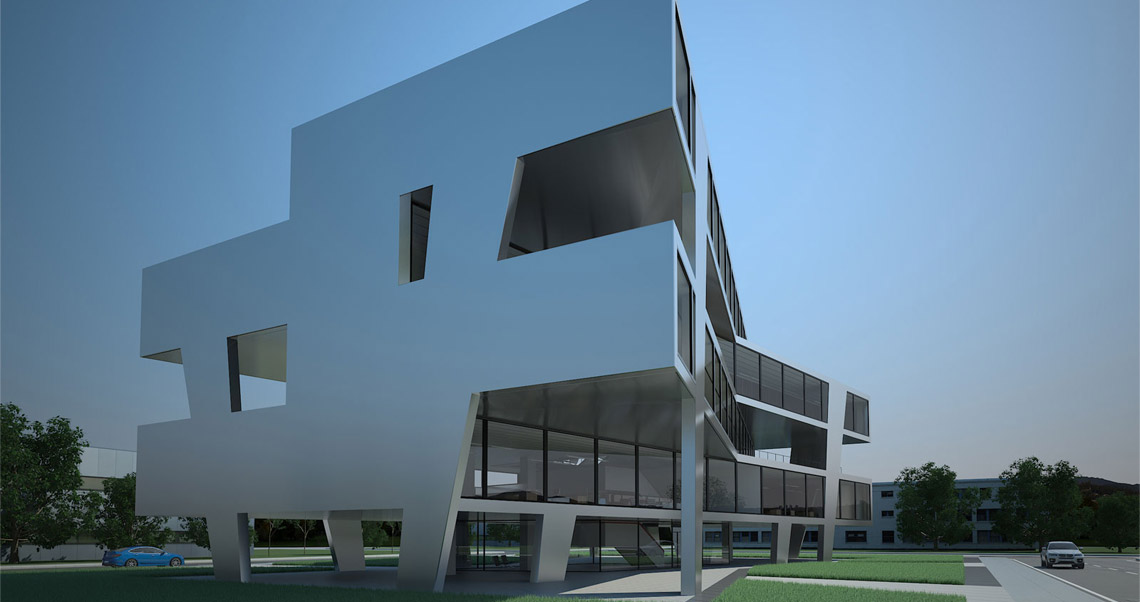 Arccentric 3d illustration architecture design for Architektur renderings