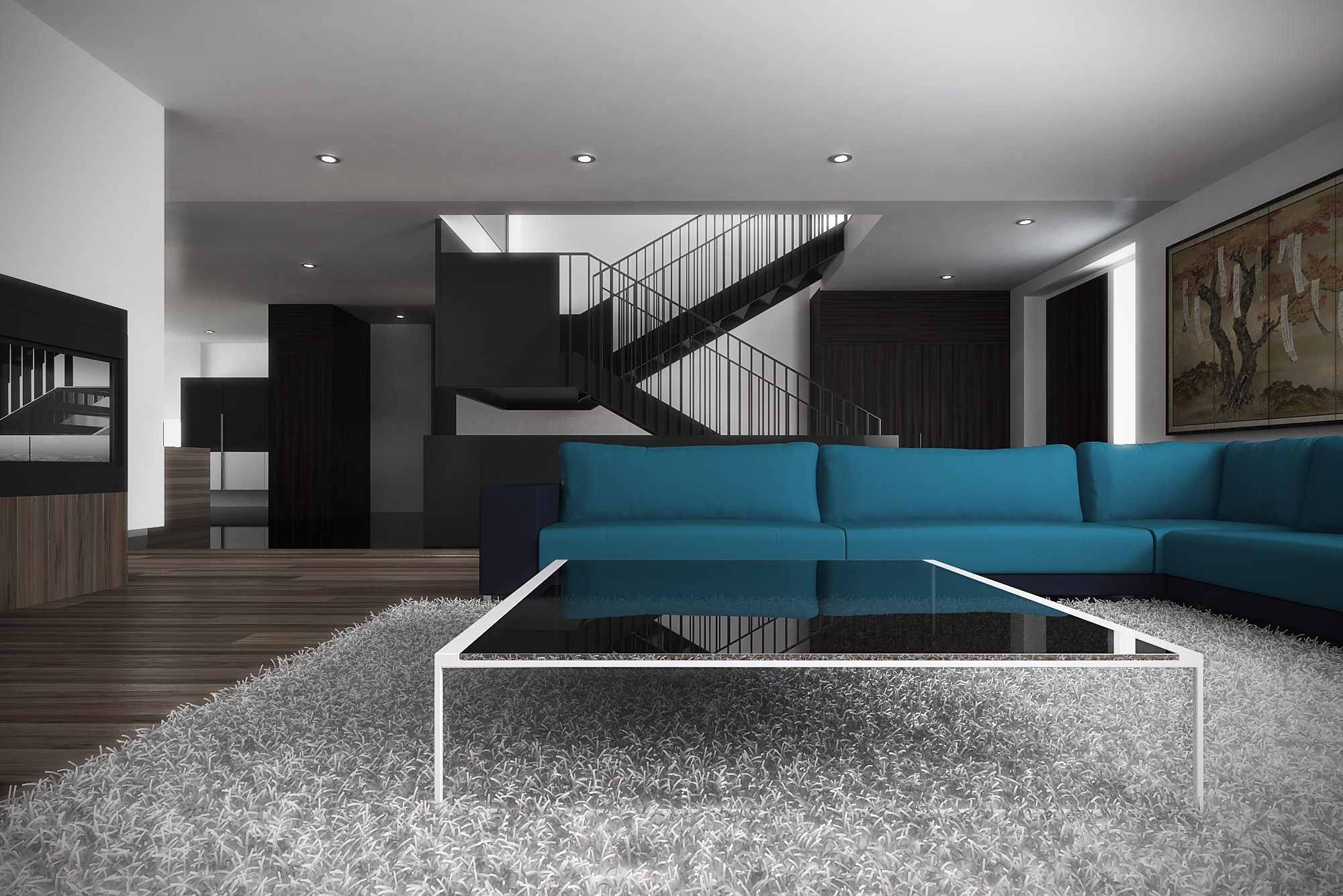 Residence In Montreal Arccentric 3d Illustration